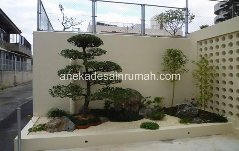 foto desain taman rumah minimalis tanpa air 20 si momot