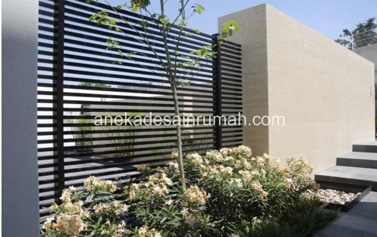 foto desain taman rumah minimalis tanpa air 201 si momot