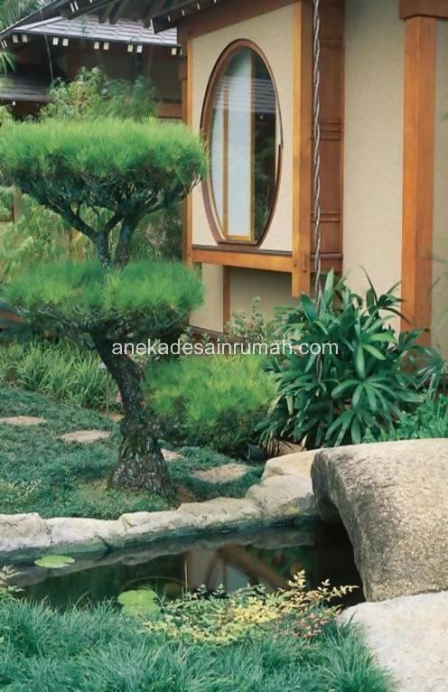foto desain taman rumah minimalis tanpa air 241 si momot