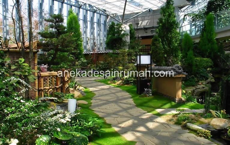 foto desain taman rumah minimalis tanpa air (7)