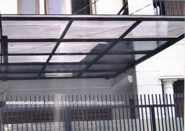 gambar desain kanopi kaca rumah minimalis modern 3 si