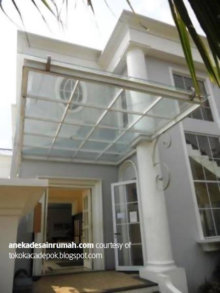 gambar desain kanopi kaca rumah minimalis modern (7) | SI ...