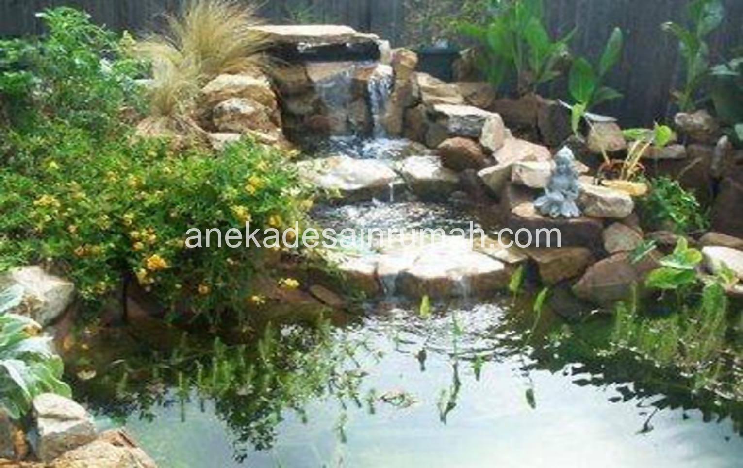 gemericik air di tengah taman desain taman terbaru si