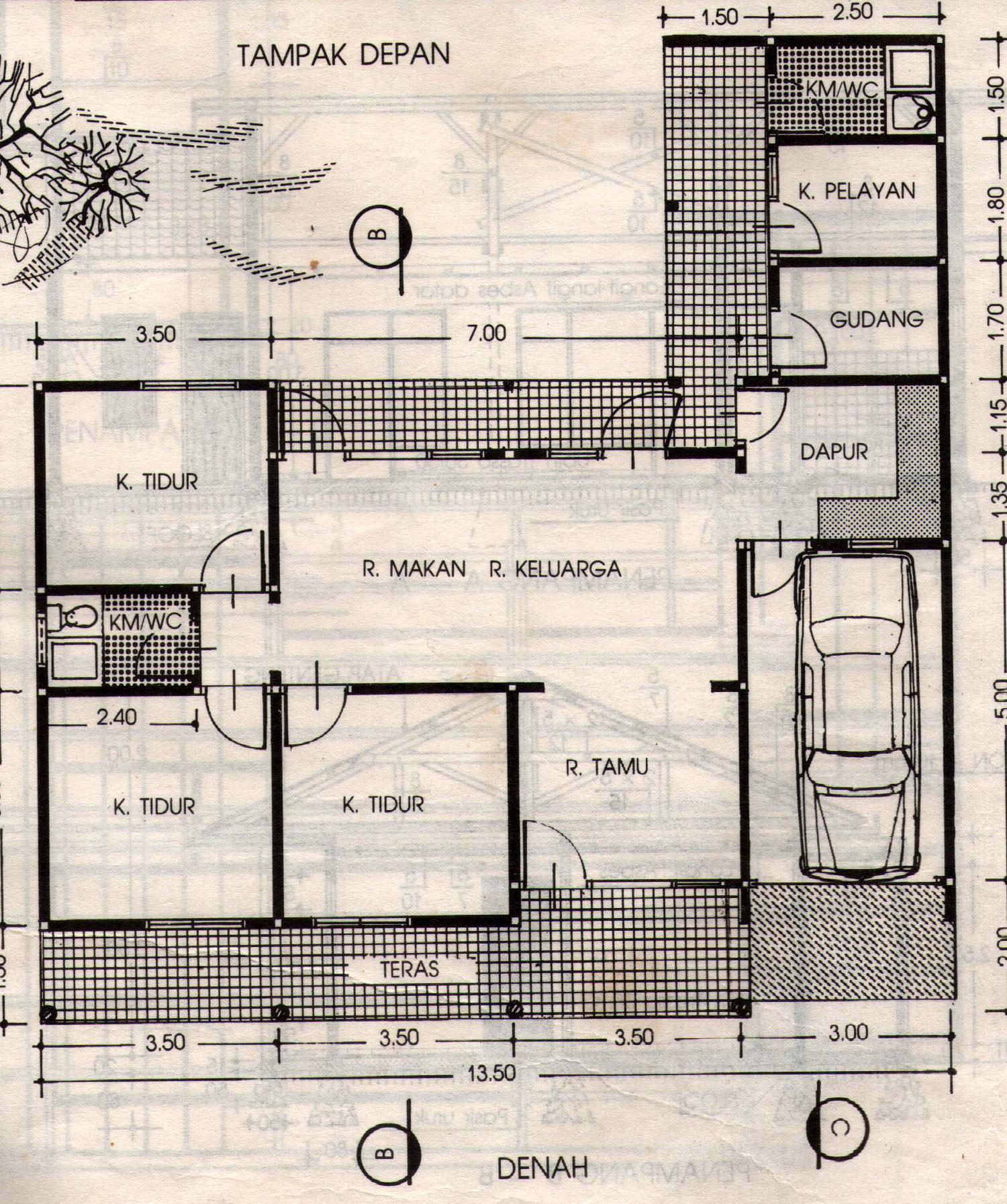 Denah Dan Sketsa Desain Rumah Minimalis Modern Dan Konvensional 235