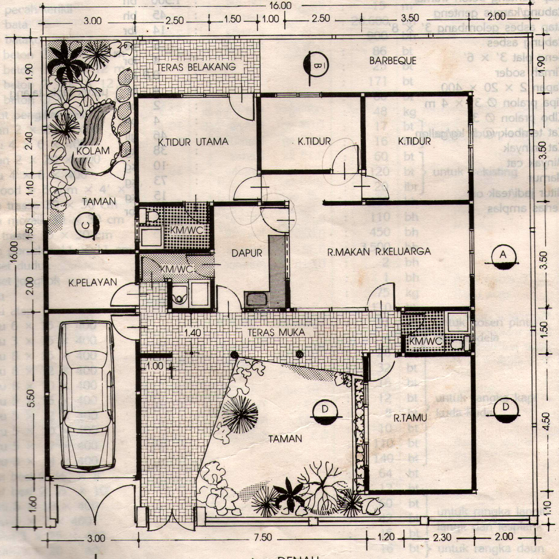 Desain Denah Rumah Jawa Modern 109 foto dan denah rumah minimalis modern   gambar desain rumah