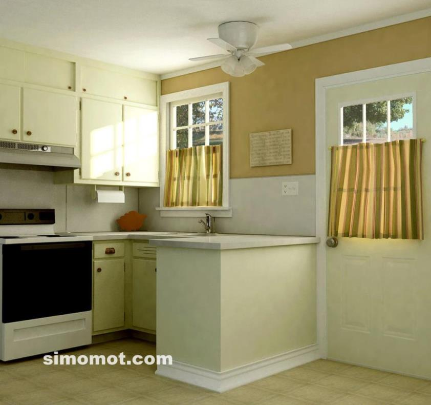 desain interior dapur minimalis modern sederhana 45 si
