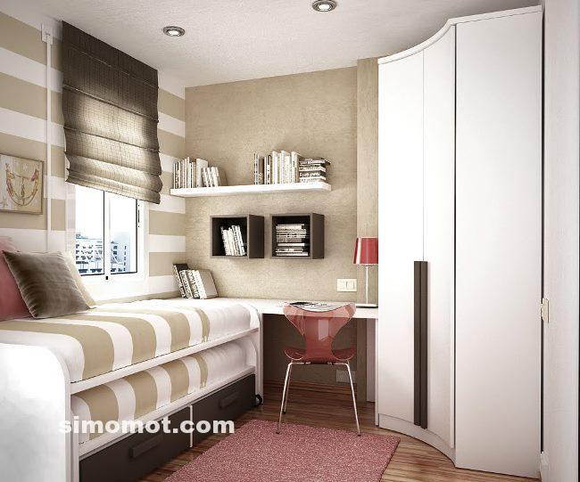 Desain Interior Kamar Tidur Minimalis Modern Anak Usia SMP-SMA - SIMOMOT