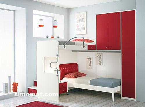desain interior kamar tidur minimalis modern untuk anak