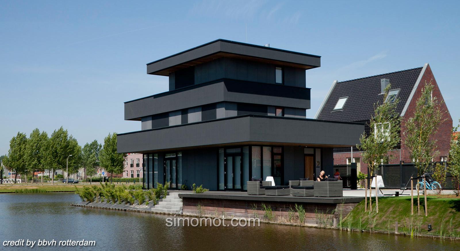 Mantab Benar Desain Arsitektur Rumah Di Tepi Sungai Ala Ypenburg III