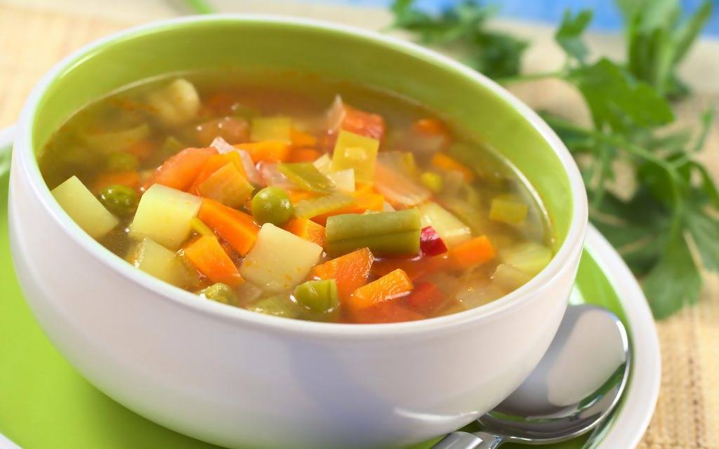 Sup Vegetarian. (Alleppofood)