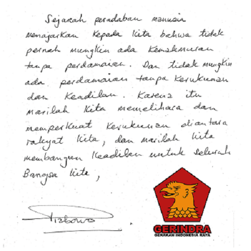 Ini Karakter Prabowo Dan Jokowi Dari Tulisan Tangan Mereka