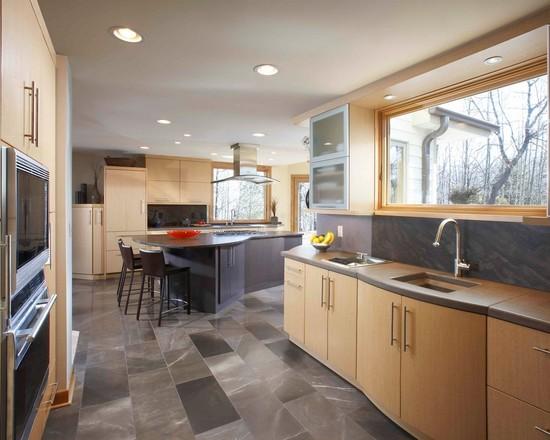 Satu lagi, ide desain lantai dapur