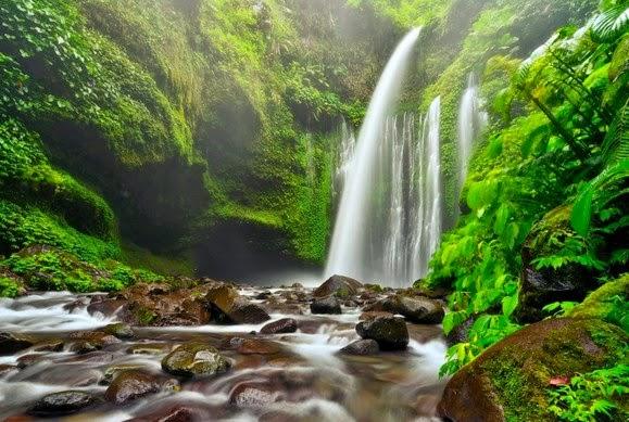 Lokasi Tempat Wisata  Air  Terjun  Sendang  Gile  Lombok