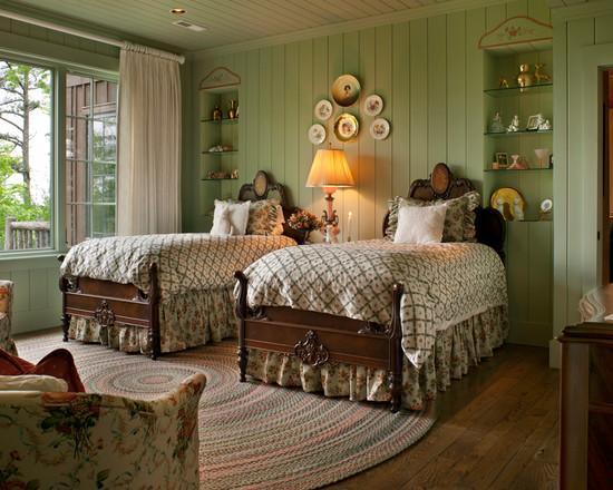 foto ide desain kamar tidur pedesaan si momot