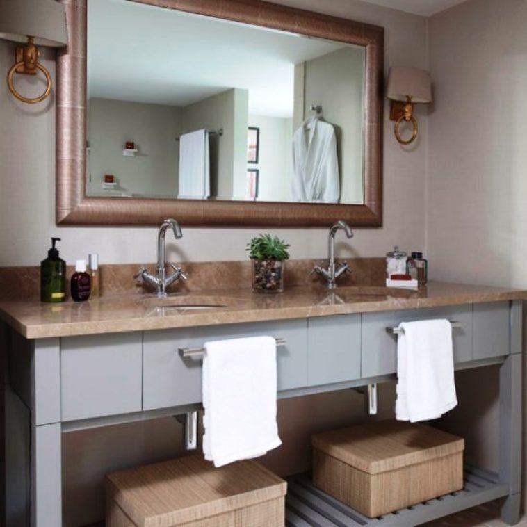 20 Gambar, desain, ide agar kamar mandi kecil terkesan ...