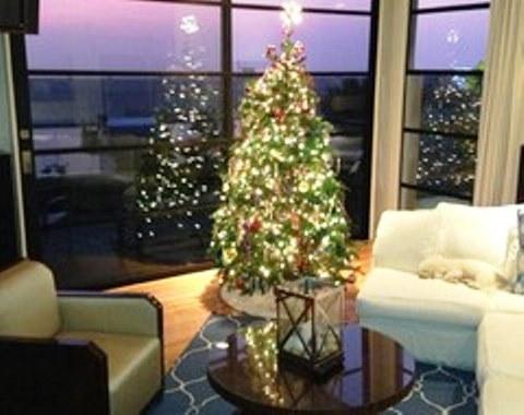 foto contoh desain dan dekorasi pohon natal (44)