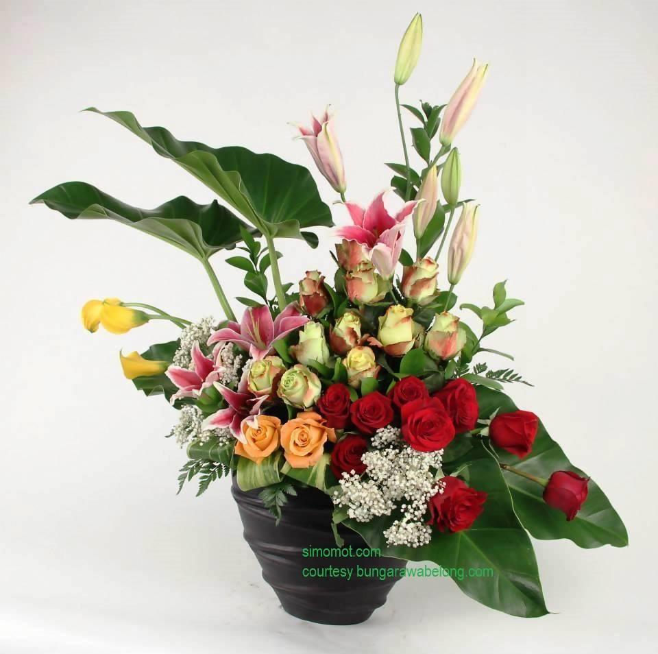 membuat rangkaian bunga segar sederhana (1)