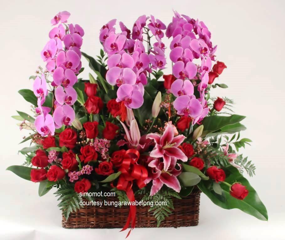 membuat rangkaian bunga segar sederhana (2)