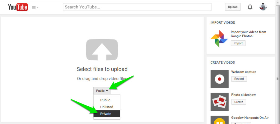 cara upload dan membagikan video private di youtube. Black Bedroom Furniture Sets. Home Design Ideas