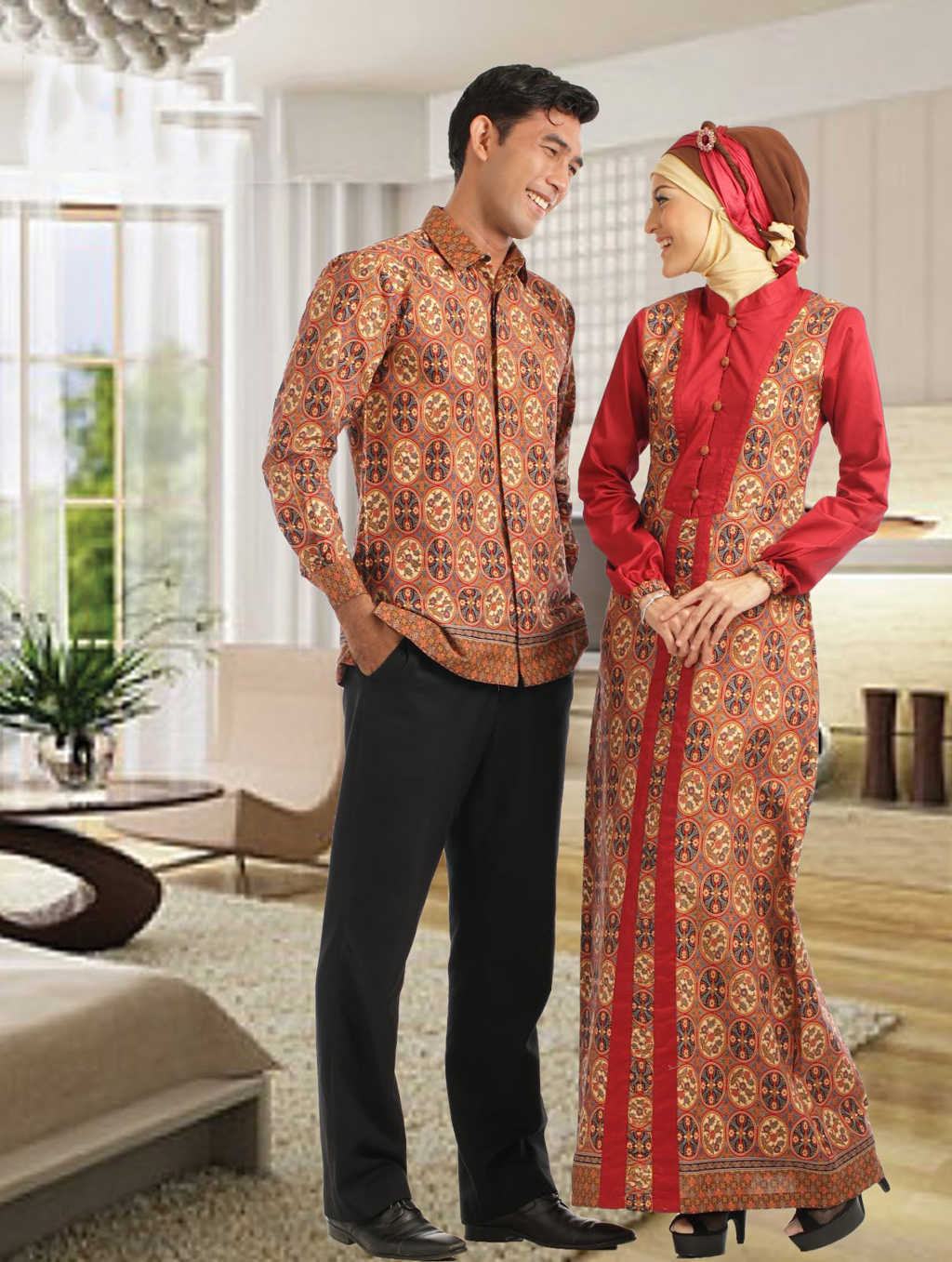 Contoh Baju Muslim Batik Untuk Pria Dan Wanita Simomot