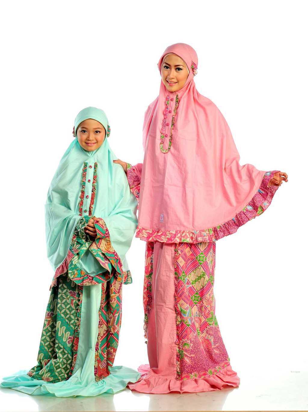 Baju Batik Muslimah Anak Perempuan Terbaru 95a28ade29