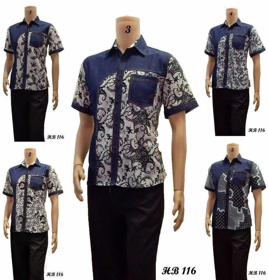 Gambar Model Batik Pria Terbaru: Koleksi Baju Batik Kombinasi Lengan Pendek Terbaru