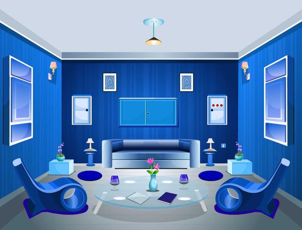 Cat Ruang Tamu Warna Biru Untuk Desain Interior Romantis