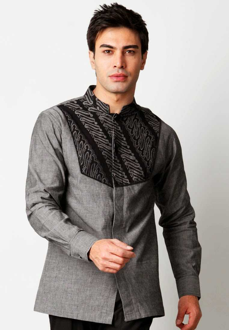 Aneka Model Baju Batik Pria Kombinasi Trendy Masa Kini 2016