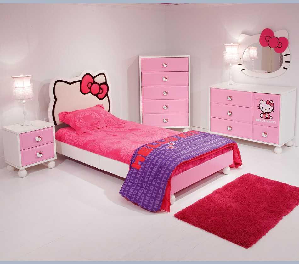 dekorasi kamar tidur anak hello kitty