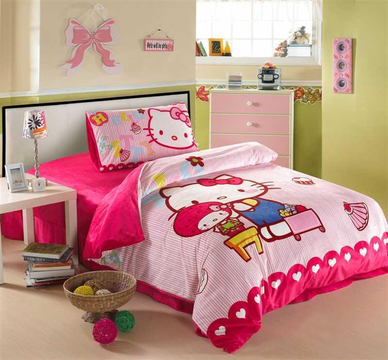 Desain Kamar Tidur Hello Kitty Untuk Anak Perempuan