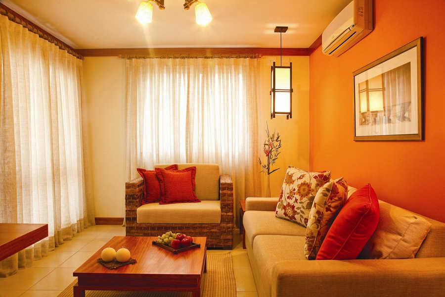 Kombinasi Cat Ruang Tamu Warna Orange Yang Serasi Simomot