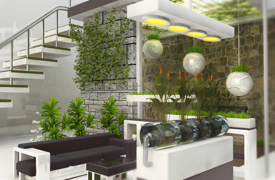 Model Taman Hias Unik Dalam Rumah Minimalis Modern