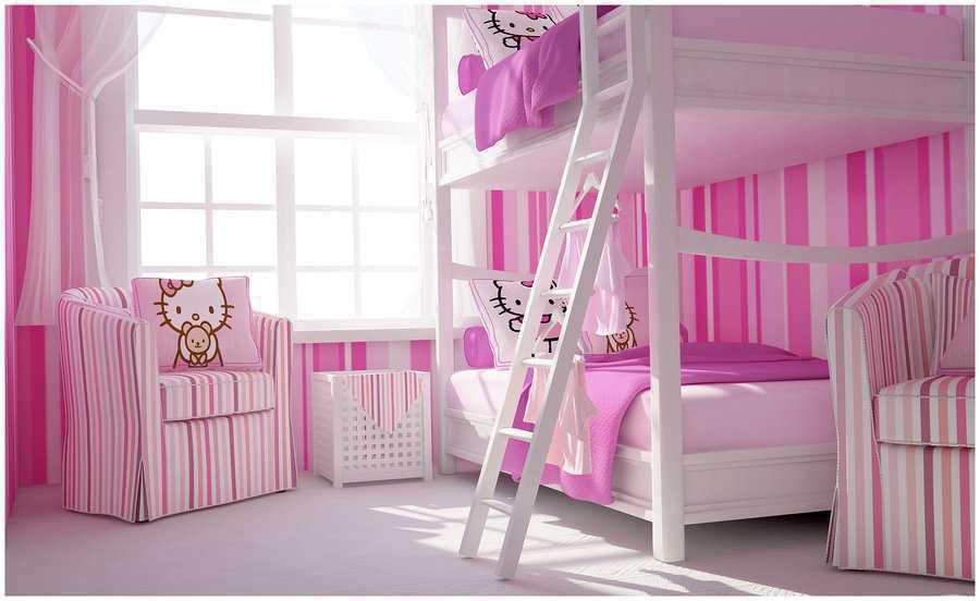 Desain Kamar Tidur Hello Kitty Untuk Anak Perempuan Simomot