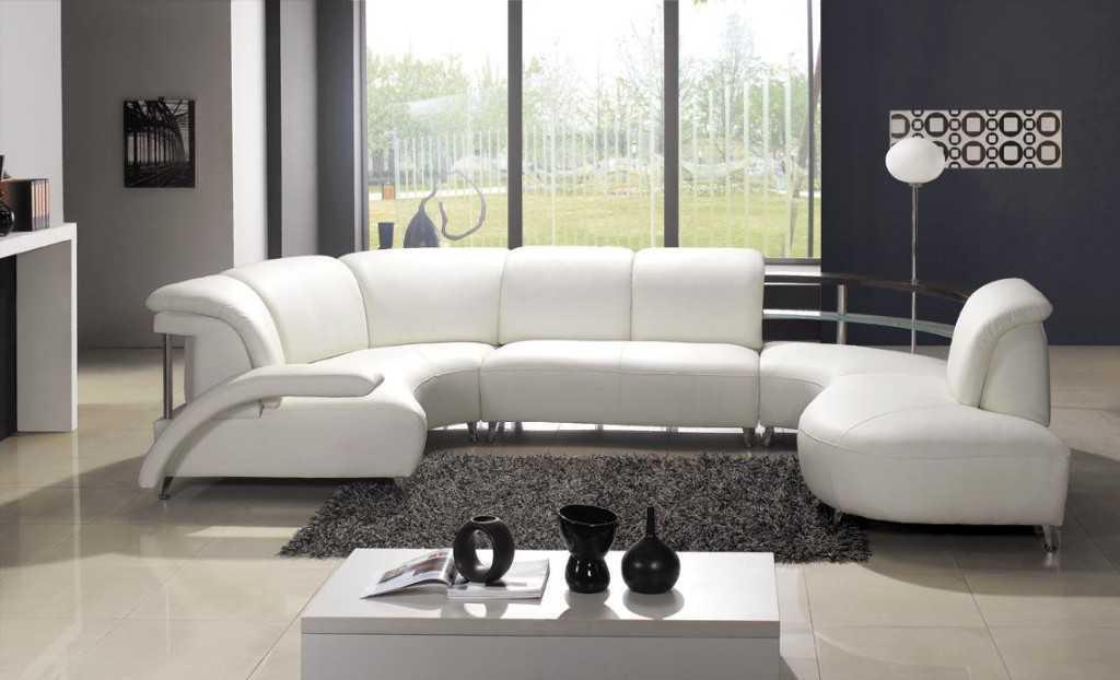 susunan sofa unik di ruang tamu