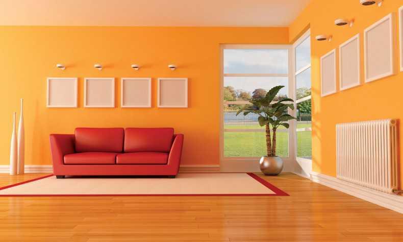 Kombinasi Cat Ruang Tamu Warna Orange Yang Serasi