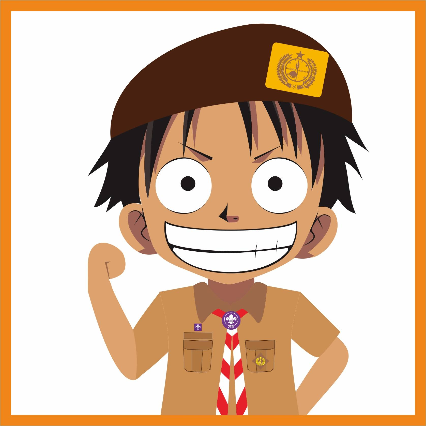 Kumpulan Gambar Animasi DP Hari Pramuka SI MOMOT