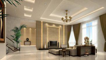 desain gypsum ruang tamu