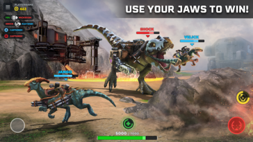Game PvP Mobile Shooter Dino Squad